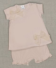 Look what I found on #zulily! Peach Marcelina Tee & Bloomers - Infant by Truffles Ruffles #zulilyfinds