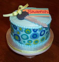 Car theme Sweet 16 cake