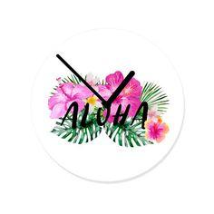 #hellosunday.de #hellosunday #walldecals #walldecoration #wallclock #clock #utart #interiordecorating #interior123 #interiors #interiordesign #homedecor #homedecoration  #wallsneedlove #tropical #aloha #typography #text