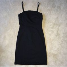 VS Black mini dress with ruffle detail EUC Victoria's Secret black mini dress with ruffle detail along bodice and hem. The material is a stretchy twill. Perfect for hitting the clubs on Spring Break!! I'm open to offers and give bundle discounts! ☮❤️✌️ Victoria's Secret Dresses Mini