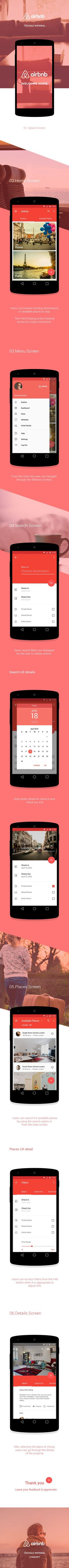 Airbnb - Google Material | Abduzeedo Design Inspiration: