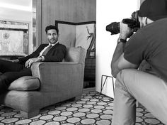 A sneak peek behind the scenes of shooting with @NoahMills and @GiampaoloSgura for #GiorgioArmani Made to Measure.