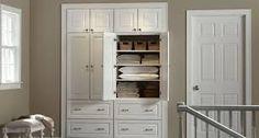 17 trendy Ideas for hallway closet remodel built ins Hallway Cabinet, Hallway Closet, Upstairs Hallway, Hallway Storage, Bathroom Closet, Closet Bedroom, Closet Storage, Closet Organization, Basement Closet