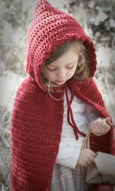b6d5f73b2f1 Little Red Riding Hood Cape- Crochet Pattern Kids Cape Pattern