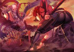 Fate Archer, Shirou Emiya, Fate Characters, Fate Stay Night Anime, Bleach Art, Nichijou, Arte Obscura, Fate Anime Series, Samurai Art