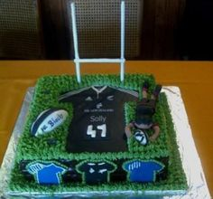 All Blacks - Rugby themed cake