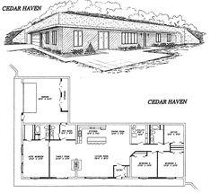 Cedar Haven Home Design, earth sheltered home, 3-4 br/3 ba