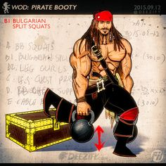 The Booty Building Exercise You Should Add To Your Workout #buttworkout #jacksparrow #pirate #kettlebell