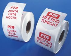 PTA-45 Meeting Stickers English/Spanish