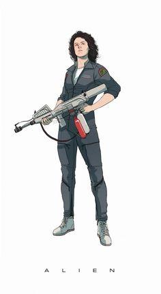 Fan Art : Ellen Ripley by Manilyn Toledana on ArtStation. Female Character Design, Character Concept, Alien Ripley, Giger Alien, Arte Nerd, Alien Isolation, Alien Concept Art, Sigourney Weaver, Aliens Movie