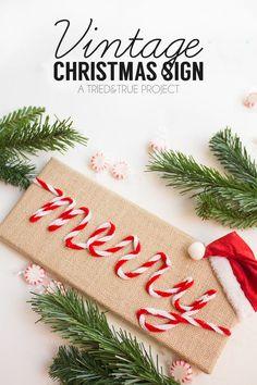 DIY Christmas Art: Merry & Burlap - Crafts Unleashed Diy Crafts For Home diy christmas crafts at home Diy Christmas Arts And Crafts, Diy Christmas Decorations Easy, Fun Diy Crafts, Diy Arts And Crafts, Diy Christmas Ornaments, Kids Crafts, Christmas Ideas, Holiday Decorating, Art Crafts
