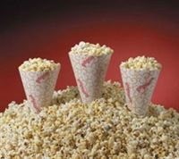 Popcorn chicken served in popcorn containers, could do popcorn cones, bags or boxes, $13 for 250 cones, or $18 for 150 boxes @alybabyyy13  @amiclette08, then offer tons of dipping sauces