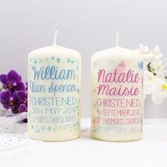 Patterned Christening Candle- Give a Christening gift that shows they are truly cherished. Thoughtful and original, lots of the products can be personalised as they are created by talented independent designers or small creative businesses.