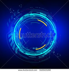 Rounded technology background design