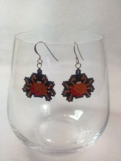 Crabby Brick Stitch Earrings by BeadingBeeCreations on Etsy, $12.00