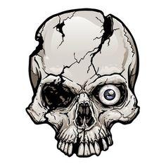 The Holiday Aisle One-Eyed Cracked Skull Magnet Skull Tattoo Design, Skull Design, Skull Tattoos, Art Tattoos, Tattoo Designs, Dark Art Drawings, Art Drawings Sketches, Drawings Of Skulls, Chicano Drawings