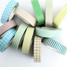 Narrow Pastel Washi Tape