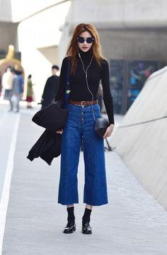 Street Style: Jung Ho Yeon at Seoul Fashion Week Fall 2015 shot by Baek Seung Won