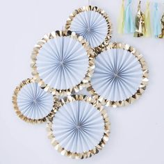 Pick and Mix Pastel with Gold Fan Decoration Kit Pastel Party Decorations, Paper Fan Decorations, Baby Shower Decorations, Backdrop Decorations, Wedding Decorations, Pinwheel Decorations, Décoration Baby Shower Garçon, Baby Showers, Bridal Shower
