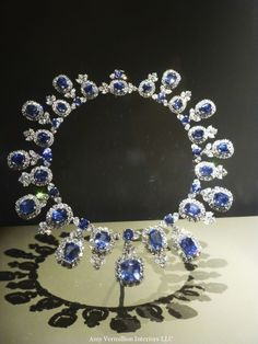 Harry Winston Sapphire Necklace, containing 36 sapphires and 435 diamonds