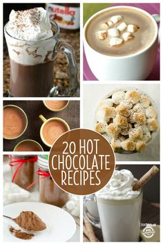Hot chocolate recipes.  This is one of our favorite Christmas traditions…one that extends all winter long!