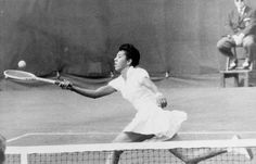 Althea Gibson was a phenomenon -- and the number-one ranked U.S. women's tennis player in 1957 and 1958. She broke huge racial barriers in sports, becoming the first African-American to win Wimbledon and the U.S. Open. And after she was done with tennis, Gibson took up pro golf, becoming the first African-American woman aboard the LPGA. She was inducted into the Tennis Hall of Fame in 1971. Here, Gibson is pictured playing in Forest Hills, N.Y. in 1957.