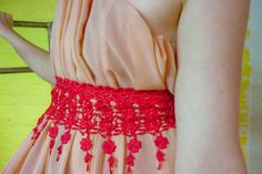 Hand-Dyed Fabric and Tulle Ruff by Roswitha Gugliotta-Kremer