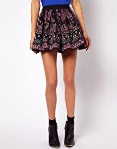 #asos                     #Skirt                    #ASOS #Skater #Skirt #Folk #Print #asos.com         ASOS Skater Skirt in Folk Print at asos.com                                   http://www.seapai.com/product.aspx?PID=1350746