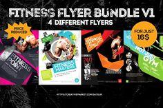 Fitness Gym Flyers Bundle V1 by Satgur Design Studio on @creativemarket