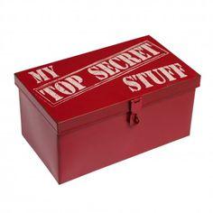 Red Metal Box Top Secret