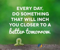 everyday do something that inches you toward your goal - Google Search