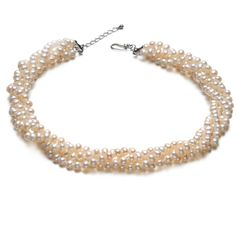 Multi Layered Sterling Silver Freshwater Pearl Necklace
