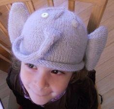 Angora Elephant Baby &Toddler Hat PATTERN by NantucketKnitter, $4.75