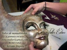 #máscaraVeneciana en proceso #Curso #manualidades y #artesania www.tallerestuco.... 914455482