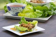 Asian Chicken Lettuce Wraps by livelovepasta #Lettuce_Wraps #Chicken #livelovepasta