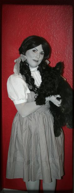Dorothy Black and White   Greyscale   Halloween Costume   The Wizard of Oz   Toto   grayscale