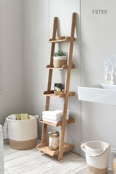 A narrow version of our best-selling Ladder Shelves made from solid oak, th. - A narrow version of our best-selling Ladder Shelves made from solid oak, these value-for-money -
