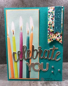 "Picture Perfect Birthday, Take 2 – Just Sponge It!  5/8"" Crinkled Seam Binding Ribbon, Banner Triple Punch, Big Shot, Celebrate You Thinlits (SAB), Champagne Foil Paper, Clear Wink of Stella, Everyday Label Punch, Glitter & Clear Epoxy Shapes, Happy Birthday Thinlits, multipurpose Adhesive Sheets, Myths & Magic 6"" x 6"" Glimmer Paper, Picture Perfect Birthday Stamp set, Picture Perfect Party dsp, Shimmer Ribbon Pack (SAB), Stitched Shapes Framelits, Stampin' Up! Birthday, DIY"