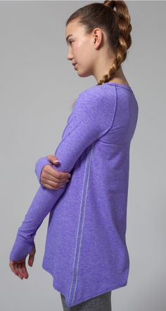 layer over your favourite tank or sports bra to stay warm on your way to the studio.   Practice Ready Long Sleeve Tee