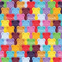Seamless gummy bears candies background royalty-free stock vector art Haribo Gummy Bears, Bear Wallpaper, Free Vector Art, Vector Pattern, My Photos, Logo Design, Candy, Drawings, Sweets