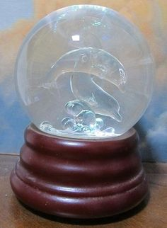 Dolphin Water Globe, click for many more snow globes.