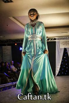 Robe Caftan de luxe Turquoise