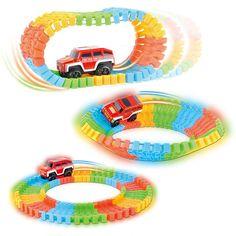 다이 캐스트 diy 퍼즐 장난감 롤러 코스터 트랙 전자 장난감 자동차 레일 자동차 장난감 임의의 색상
