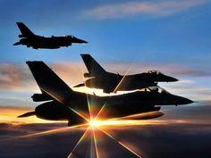 F-16C Fighting Falcon on Formation Flight.