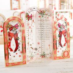 Hunkydory Window to the Heart Piece Collection- Includes Card Collection, Inserts and Second Little Book of Festive Poetry Handmade Christmas, Christmas Crafts, Hunkydory Crafts, Create And Craft, Heart Cards, Heartfelt Creations, Little Books, Xmas Cards, Christmas Inspiration