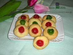 Biscotti al burro con ciliegine candite - ricetta | cucina preDiletta
