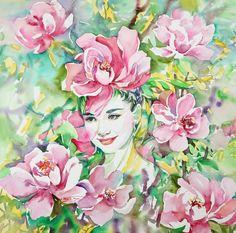 АКВАРЕЛЬ. Обсуждение на LiveInternet - Российский Сервис Онлайн-Дневников Academic Drawing, Linda Carter, Grace Kelly, Portrait Art, Modern Art, Wonderland, Watercolor, Painting, Image