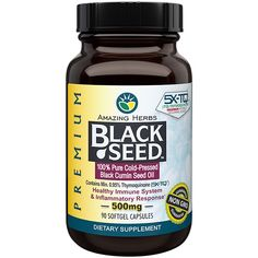 Bought this at The Vitamin Shoppe today. I'm going to use this with my Bragg's Apple Cider Vinegar. Let's see how it works!Premium Black Seed Oil XL Softgels - 60 ct Softgels) by Amazing Herbs at the Vitamin Shoppe Natural Remedies For Anxiety, Natural Health Remedies, Health And Nutrition, Health And Wellness, Benefits Of Black Seed, Nigella Sativa Oil, Herb Shop, Vitamins For Women, Oil Benefits