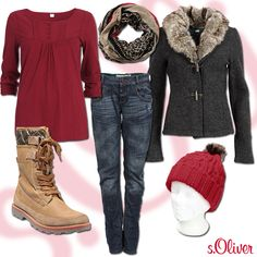 "Outfit ""Cranberry Dreams"": More Outfits www.soliver.de"