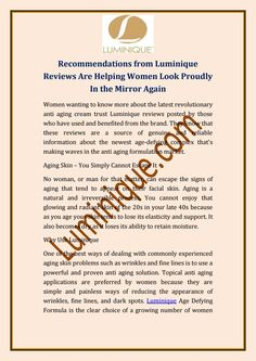#Luminique #reviews' this new generation skincare formula is truly unique.